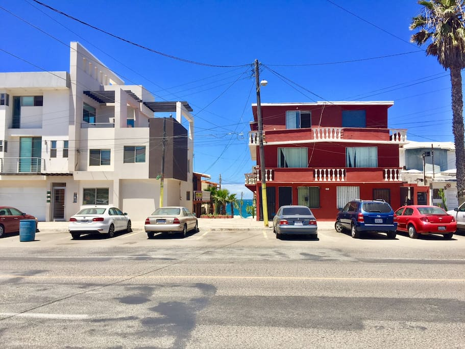 New ground floor apartment/condo available in Red building. Free street parking.