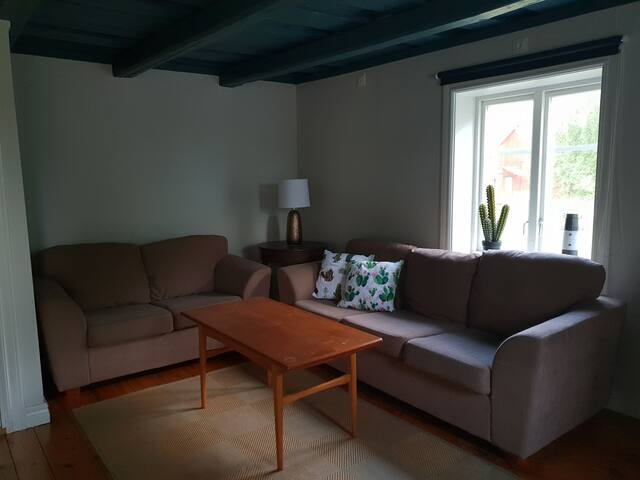 The sitting room with 2 sofas