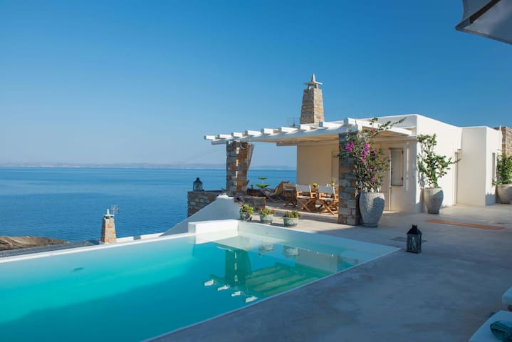 VILLA BEAUTIFIS | in Kea, 4BDR/7prs, pool, seaview