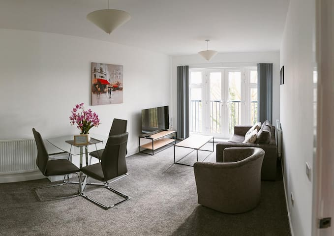 Farnborough Airport Twin Bed Apartment