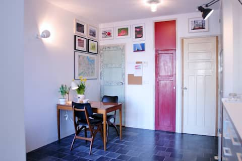 Private studio in the citycenter and yet quiet