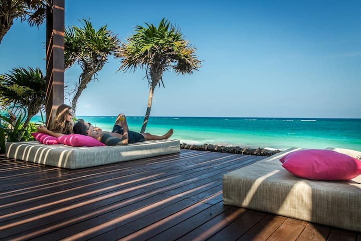 ❤ TOO TULUM TO HANDLE - TOP BEACHFRONT 9BR/9BA.