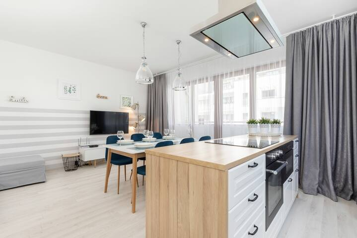 Apartament z 2 sypialniami w centrum miasta
