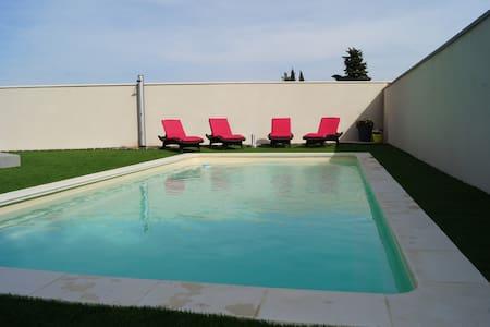 Villa neuve ,ensoleillée avec piscine sécurisée. - Lespignan - Villa