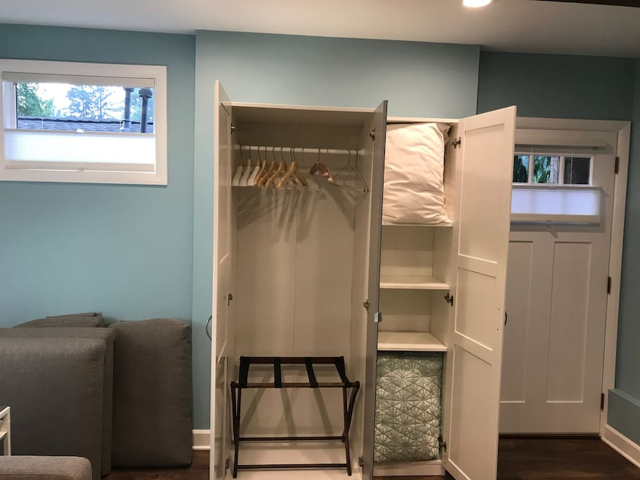 Your clothing/storage space