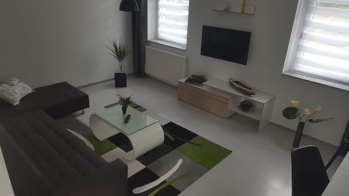 Apartment in Stadtvilla, Terrasse u. Stellplatz