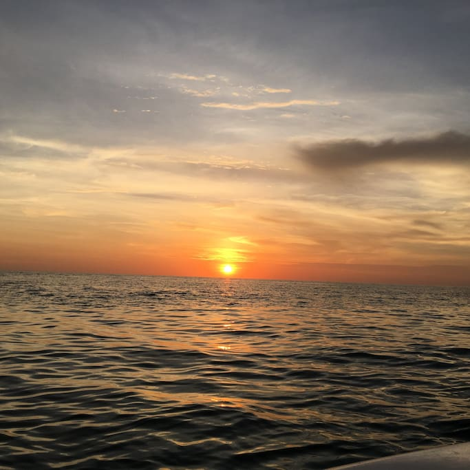 Our perfect sunsets off Cayo Costa