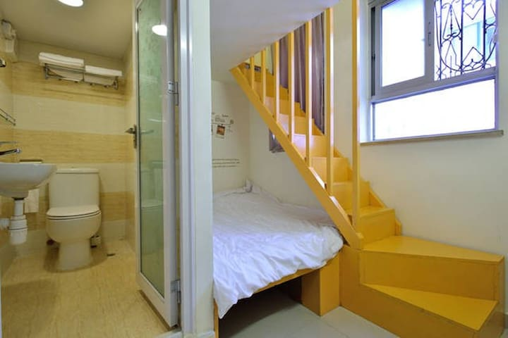ROOM2 - warm and clean small complex design family suites in Hong Kong Island