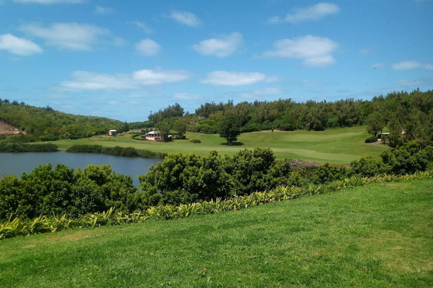 Views from the back lawn.  Overlooks gorgeous Mid-Ocean Golf Course.