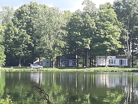 Primitive Camping spot on fishing lake