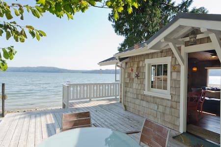 Hood Canal Beach Cottage,  315' Cove with Oysters