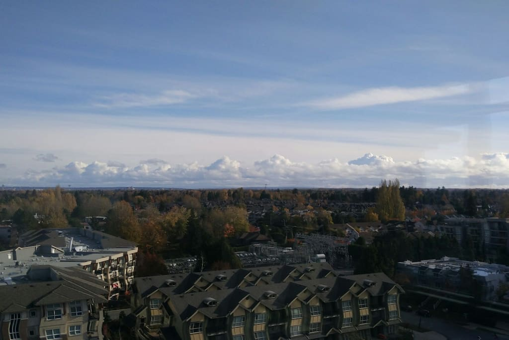 Magnificient view from all areas in the unit.  Mount Baker can been seen clearly when clear sky