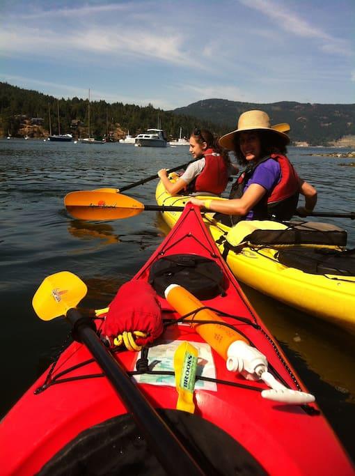 Kayaking in Brentwood Bay