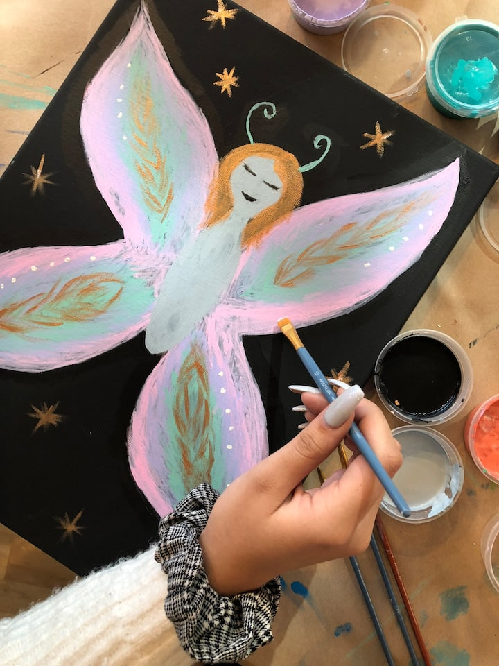 Painting of a fairy