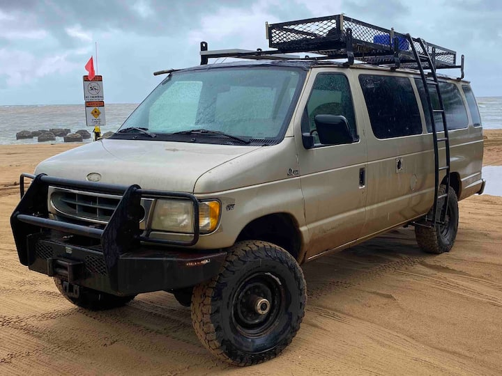 Biggest Badass 4x4 Camper Van on Kauai