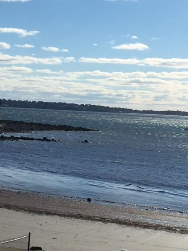 Private beach for swimming, sunning, walking, or just enjoying the views: Boston Skyline & Sunset