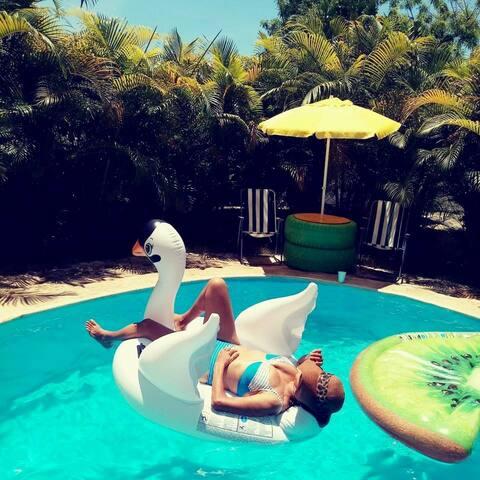 Hermosa Villa Campestre con Piscina en Boca Chica