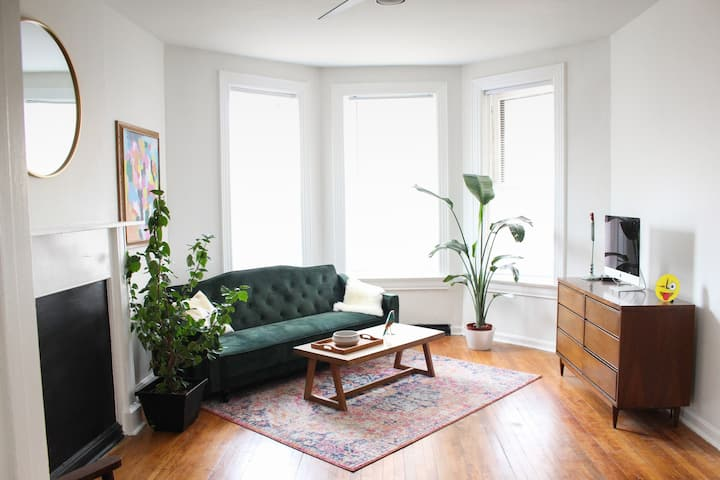 Tulip Tree Retreat: a Historic Flat + Hip Area