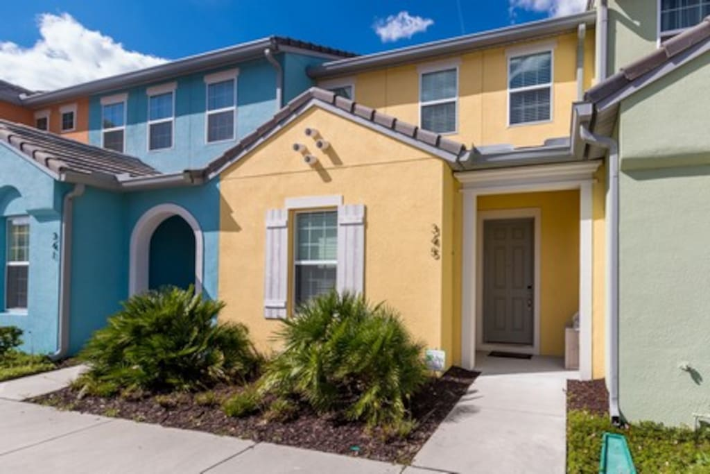 New pool home with 3 bedrooms 2.5 bath with a loft that sleeps 8 in Festival Resort, a newly developed gated vacation Resort in Champions Gate. Guests will benefit from all the advantages of a self-catered home with luxury resort amenities.