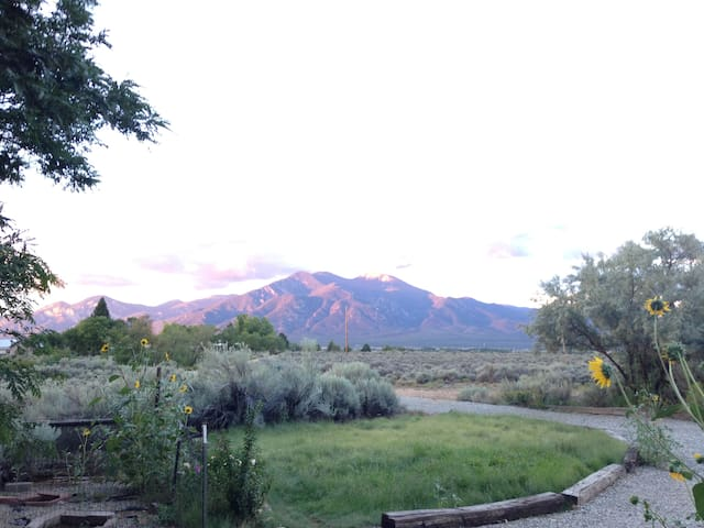 Driveway with view of Taos Mountains