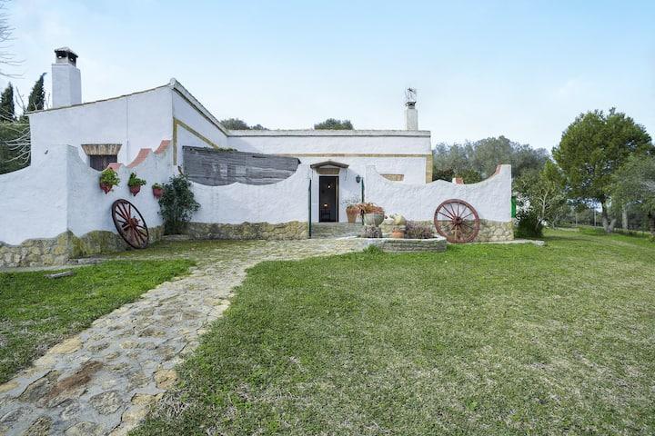 Andalusisches Landhaus 'El Niño de Santamaría' mit Pool, Terrasse und WLAN; Parkplätze vorhanden