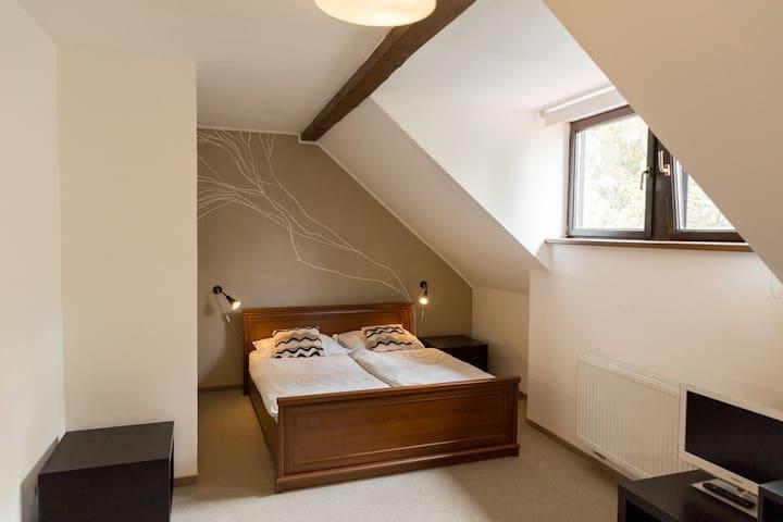 Romantický podkrovní pokoj pro 2