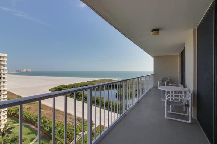 Oceanfront condo with shared pool, tennis courts, and direct beach access!