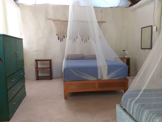 CABIN Yaxchen, BEACH  and CENOTE. Room TORTUGA