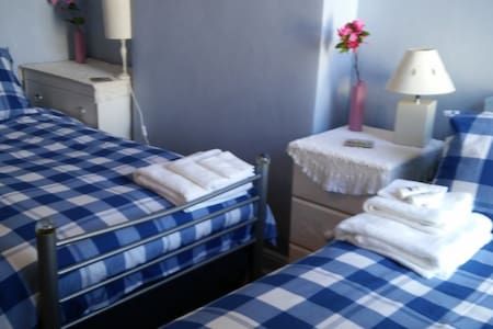 2 single beds in room. - Pousada