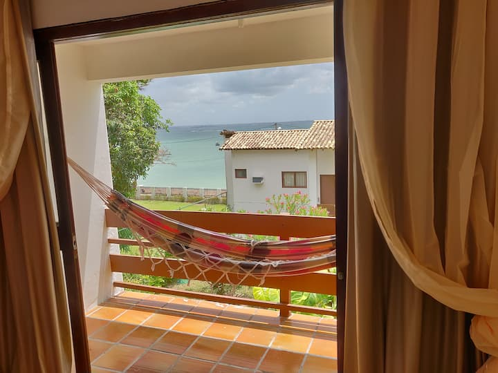Lindo apartamento com vista para o mar