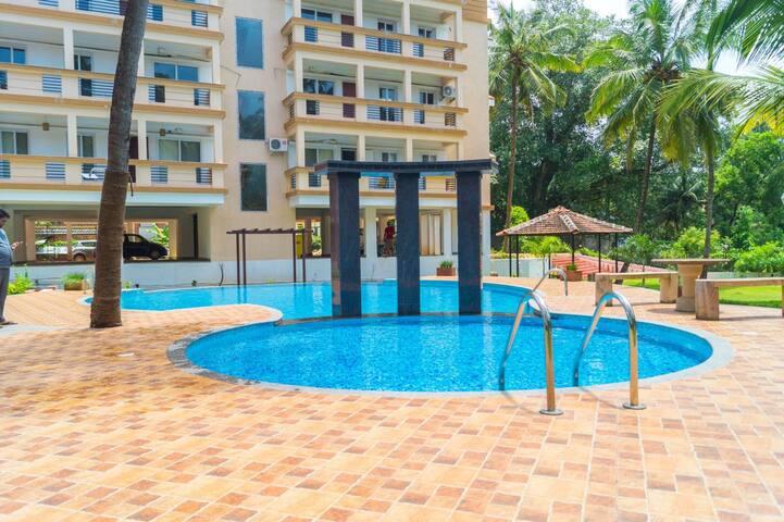 Premium 2 BR Apartment Near Baga Beach