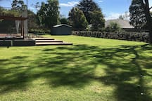 Our massive backyard for the budding footy player, the up & coming cricketer, the tennis star or even a basket baller... whatever the sport... we have the room! And for the littlies... there's a sandpit & massive cubby house & plenty of outdoor toys!