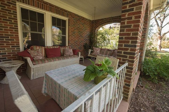 The southern front porch, a great place to sit and relax.