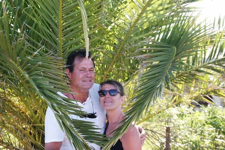 Studio bleu coco vue mer Guadeloupe