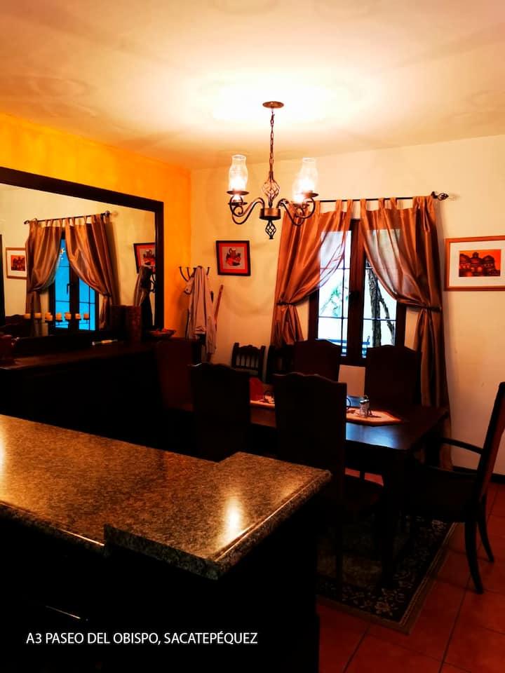 Apartamento cerca de Antigua, seguro, cómodo.