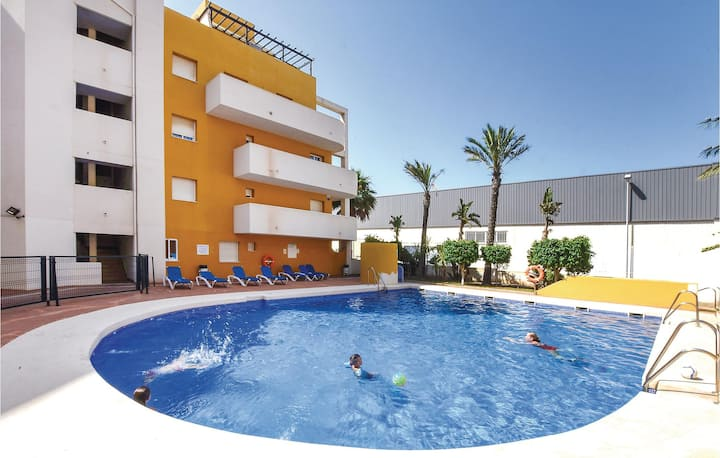 Amazing home in Roquetas de Mar with WiFi, Outdoor swimming pool and 2 Bedrooms
