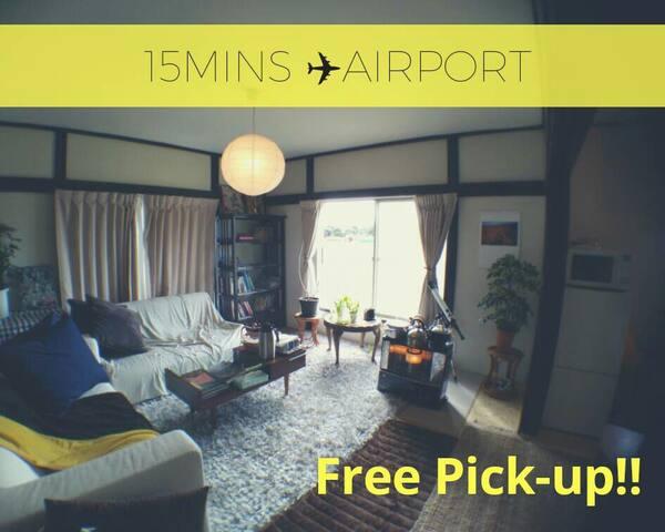 Vegan,calm,,Free pickup 15min from airport dorm03