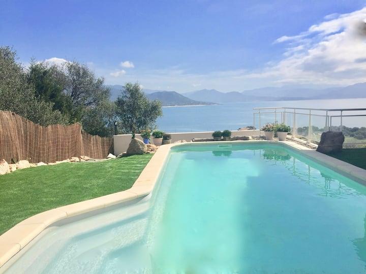 Marincelu en Corse villa Casa Felice 4* et piscine