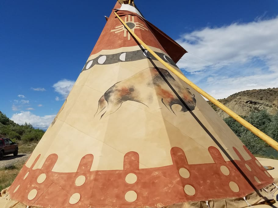Buffalo Tipi Close up