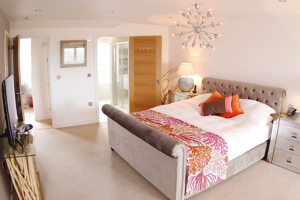 Master bedroom, with ensuite and dressing room. Lovely views.
