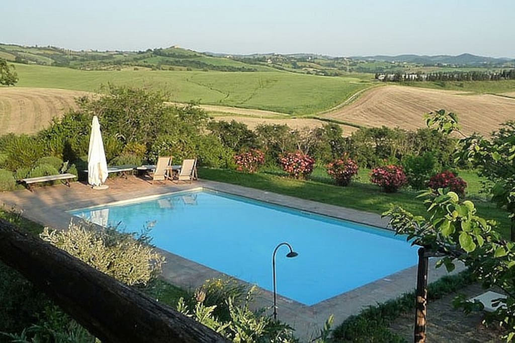 Stunning view of the communal pool