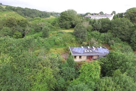 Cornish Eco home in the Woods with Hot tub.