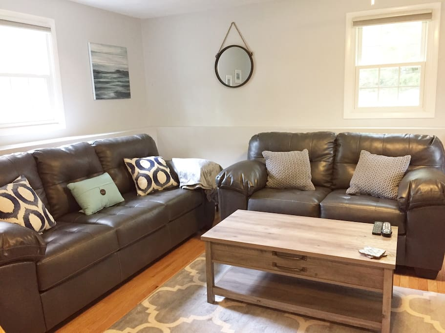 Living room space with new furnishings