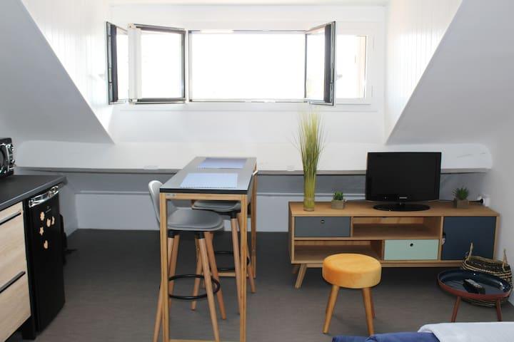 Studio hyper centre avec vue sur les Pyrénées