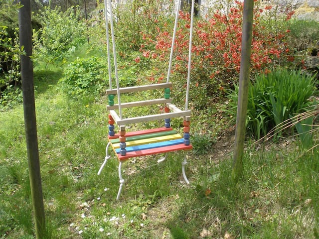 or swing in the garden,