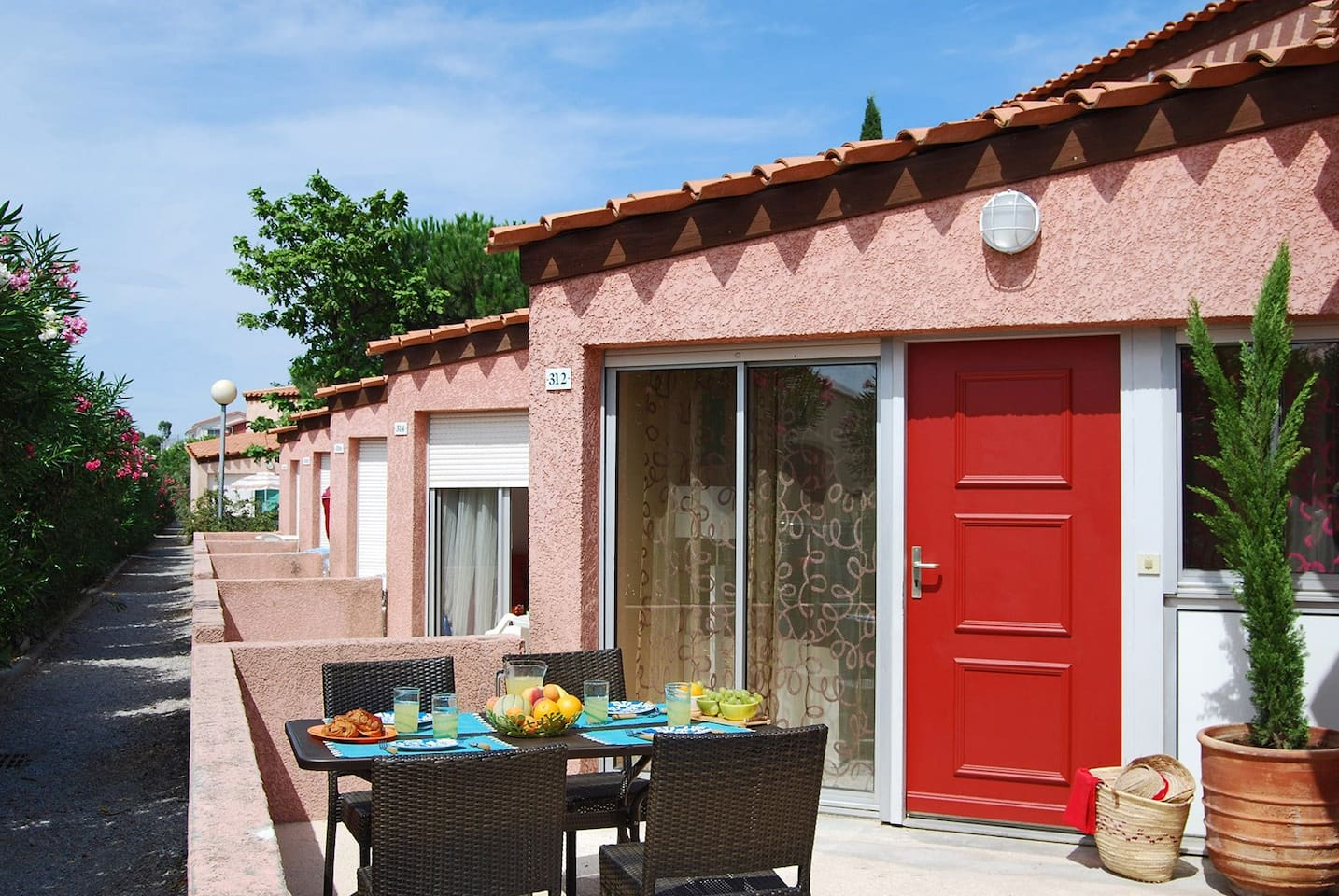 Enjoy the sunshine on your balcony or patio.