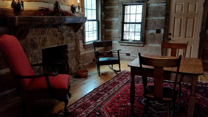 Parlor in Original 1830 Log Home