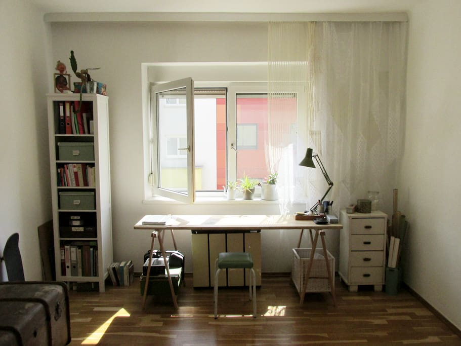 bedroom with workdesk