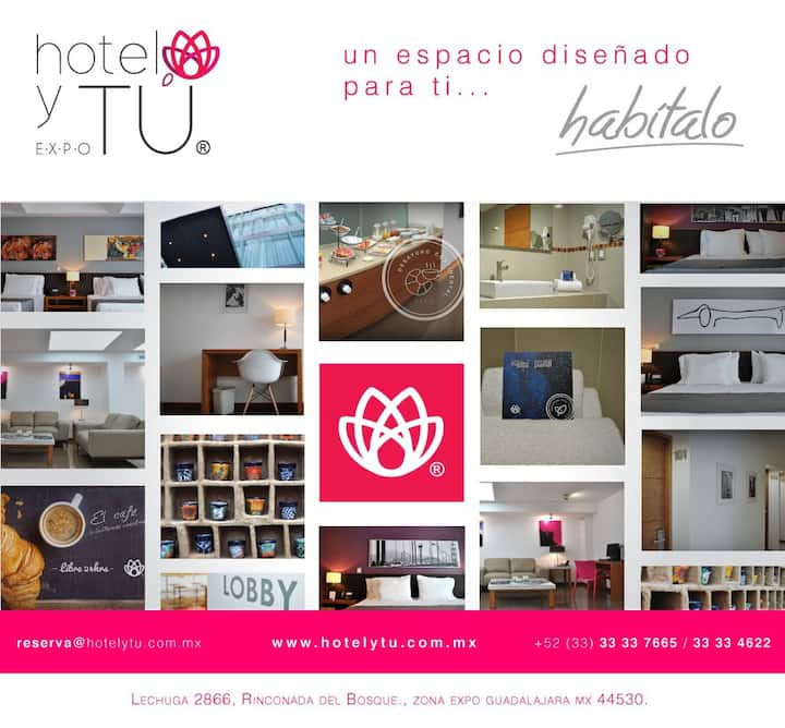Hotel y Tú Expo Ubicación, Tranquilidad y Seguro.