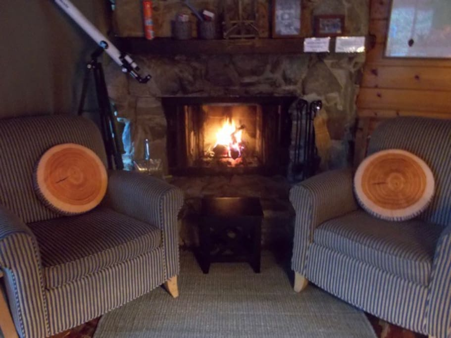 Living room fireplace chairs